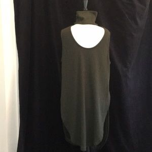 Toveriche Size L Green Knit ribbed Tunic